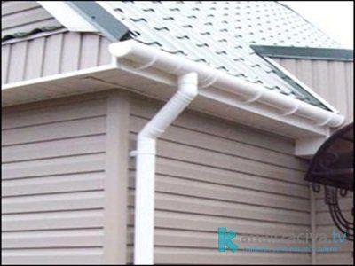 Пластиковые водостоки для крыши
