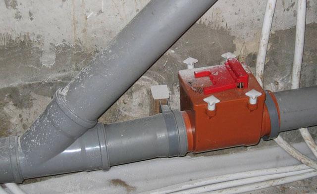 обратный клапан на канализацию вертикальный