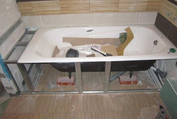 как правильно установить стальную ванну
