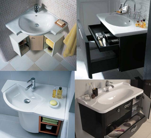 размеры раковины для ванной комнаты с тумбой