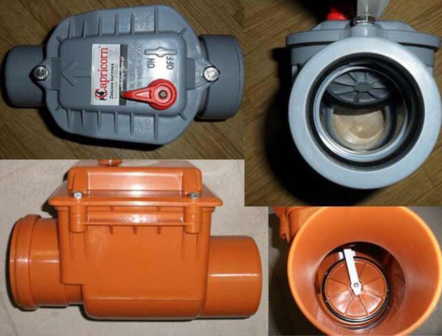 обратный клапан для канализации вертикальный