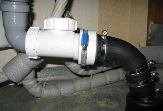 обратный клапан для канализации внутренний