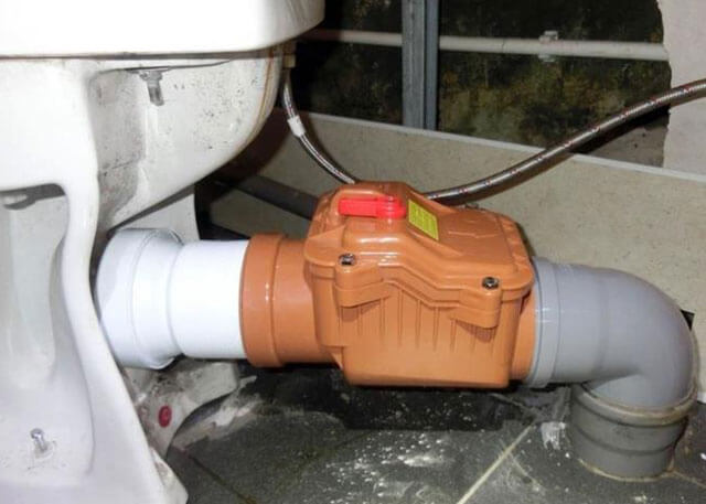 клапан на канализационную трубу