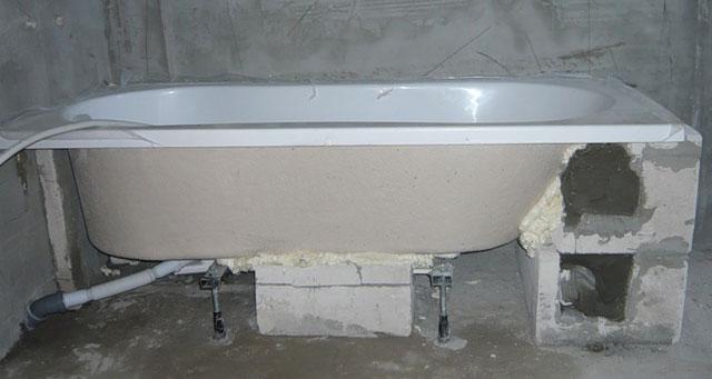 стандартная высота ванны от пола