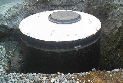 выгребная яма при высоких грунтовых водах