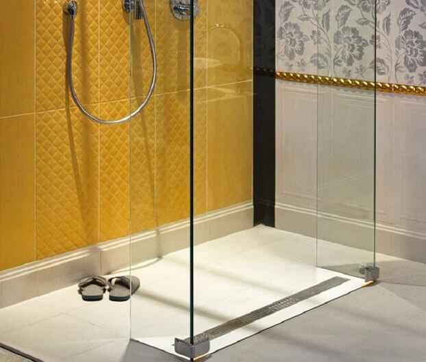 дизайн ванной комнаты с душем без поддона