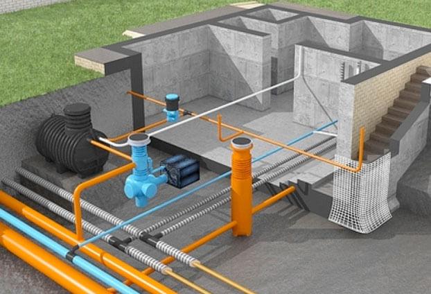 прокладка наружных сетей водопровода и канализации