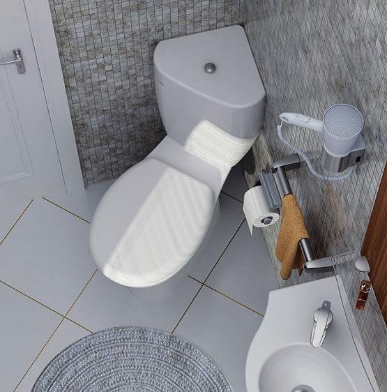 туалет с биде встроенным