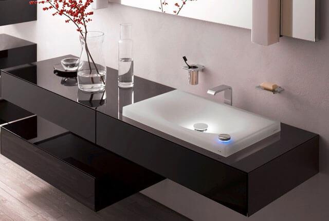 стандартная высота раковины в ванной от пола
