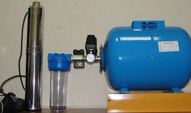 подключение скважинного насоса к гидроаккумулятору