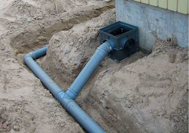 глубина прокладки канализационной трубы в частном доме