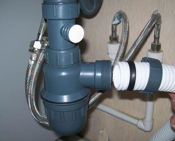 подключение раковины к канализации