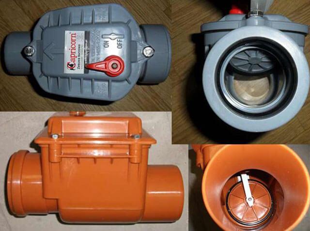 обратный клапан для канализации размеры