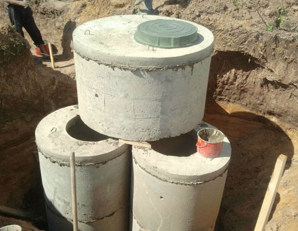 правильный септик из бетонных колец