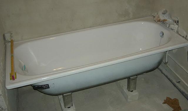 высота ванны от пола стандарт