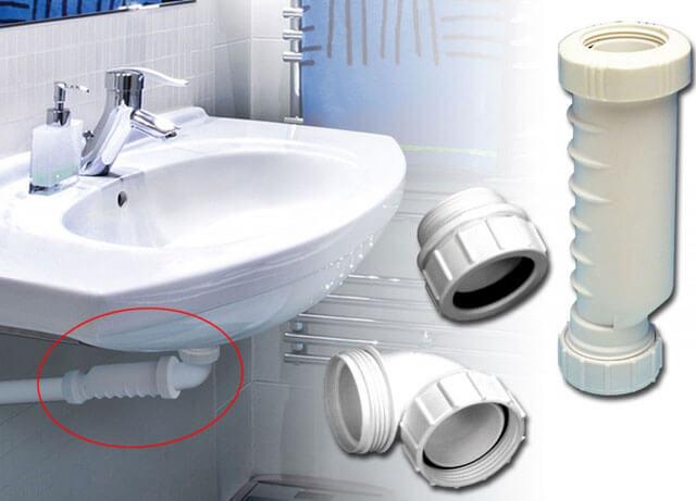 сифон под раковину в ванной