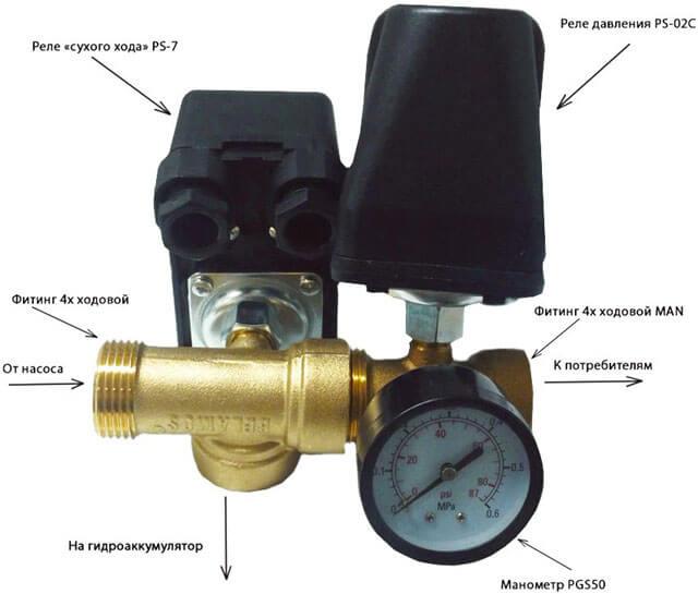 датчик давления для водяного насоса