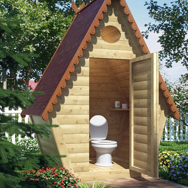 туалет на дачном участке