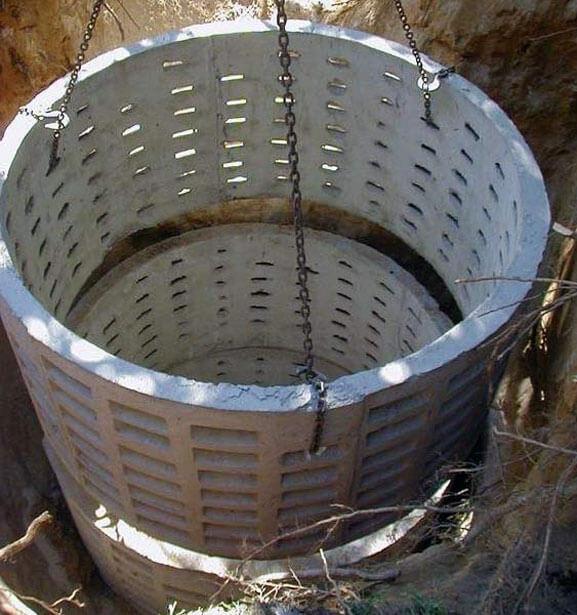 как устроить септик из бетонных колец