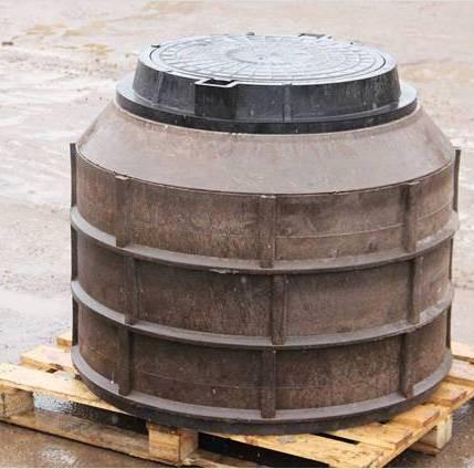 Резервуар изготовлен из песка и пластика