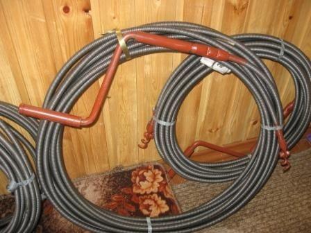 Пружинный трос для канализации