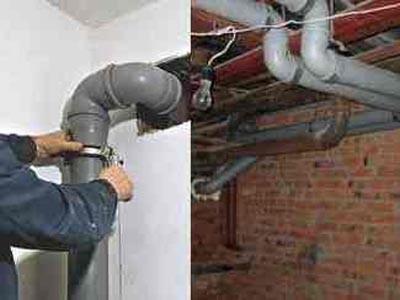 Устновка труб канализации