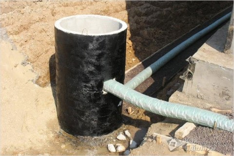Одна из точек размещения колодца-гасителя